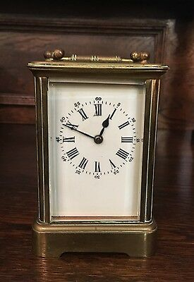 Antique 19th Century 8 Day Carriage Clock with Key