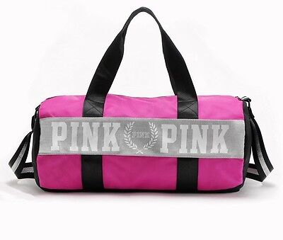 Victoria's Secret PINK Sport Duffle, Weekender, Gym Tote Bag - Pink In Color NEW