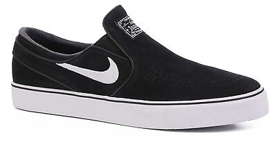 Nike SB Shoes Zoom Stefan Janoski Slip On Black White Skateboard Sneakers