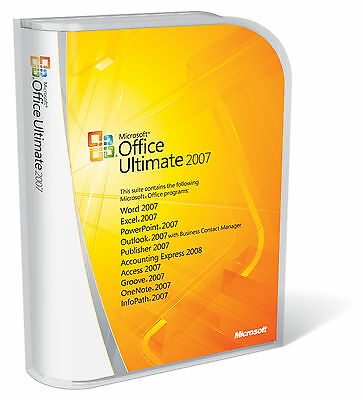 Microsoft Office 2007 Ultimate Full for Windows 1PC Lifetime License - Download