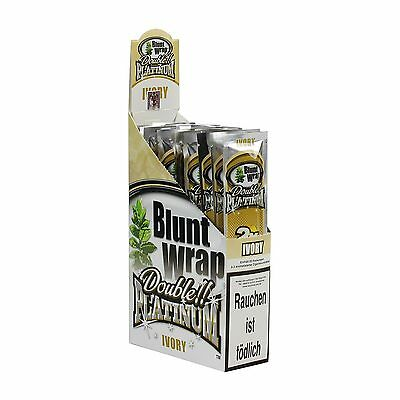 75 Blunt Wrap Double  Platinum, Ivory 'french Vanilla' (Or Mix Flavours!)