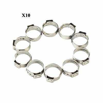 3/4 Inch PEX 304 Stainless Steel Clamp Cinch Rings Crimp pinch Fitting 100pcs