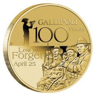 NEW Perth Mint Anzac Day April 25 2015 100 Years Gallipoli $1 Coin in Card