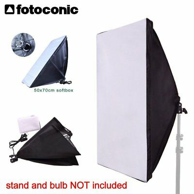 Studio All-in-One 50x70cm Collapsible Softbox with E27 Socket Bulb Lamp Holder