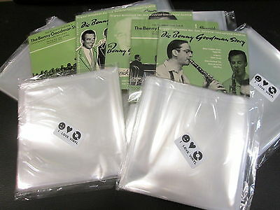 "100 pcs. 7"" Plastic Vinyl Record SLEEVES COVERS SP Outer ♫ Clear&Thin!"