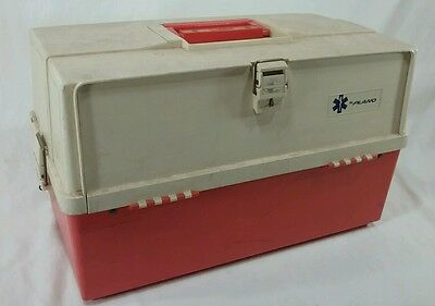 vintage plano first aid ems medical tackle box case
