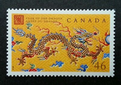 Canada Year Of The Dragon 2000 Chinese Zodiac Lunar (stamp) MNH *emboss *unusual