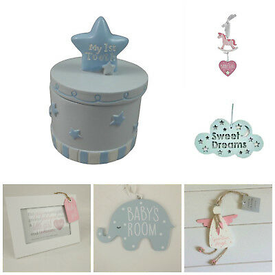 New Baby Boy/Girl Wall Signs,Mobiles,Bunting,Pink,Blue Nursery Decoration,Gifts