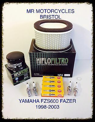 YAMAHA FZS600 FAZER 98-03 Service Kit, Oil Filter, Air Filter, Plugs, SER2725