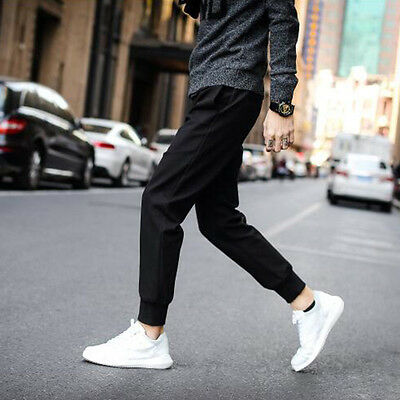 Soft Sweatpants Harem Pants Men Hip Hop Casual Popular Street Pencil Pants uO