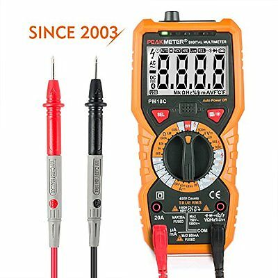Janisa Digital Multimeter AC DC Voltage Current Tester Non Contact Backlight LCD