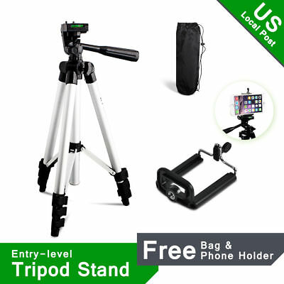 US Local Camera Tripod for Canon Nikon Digital Camera Camcorder + Phone Holder