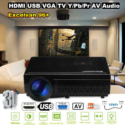 3D WiFi Android Full HD LED Home theater TV Projector Projektor Beamer 2000:1 DE