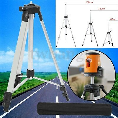 1.5M Universal Adjustable Alloy Tripod Stand Extension For Laser Air Level+Bag