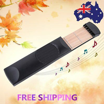 Pocket Acoustic Guitar Practice Tool Gadget 6 String 4 Fret High Quality UO