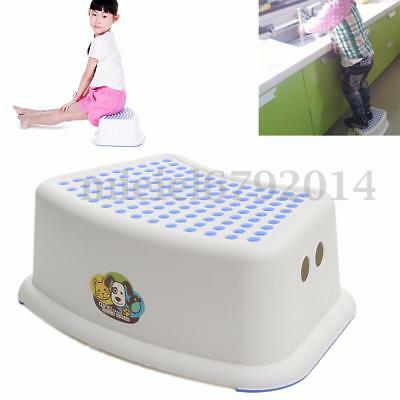 Plastic Seat Step Stool Toilet Potty Training Kitchen For Kid Children Anti-Slip