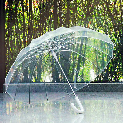 Clear Mushroom Umbrella Handle Transparent Dome See Through Walking Umbrella UO