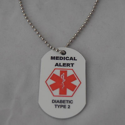 Medical Alert Necklace for Diabetic type 2
