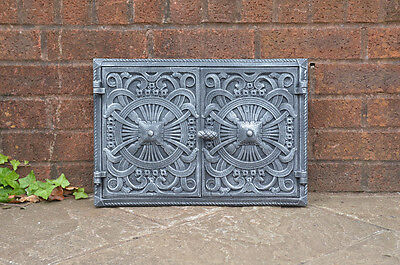 45 x 31.5 cm cast iron fire door clay  bread oven doors pizza stove fireplace