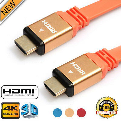 High Speed 1.8M Premium HDMI Cable v1.4 Male to Male HDTV Ultra HD 2160p 4K 3D