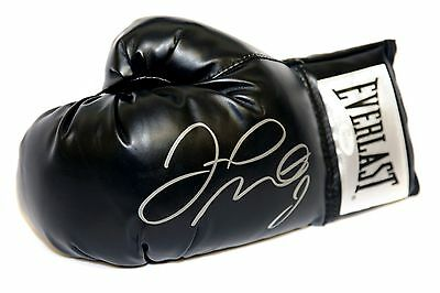 *New* Floyd Mayweather Hand Signed Black Boxing Glove. JSA Authenticated