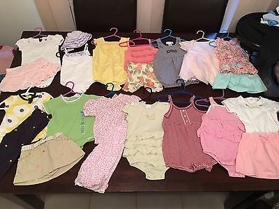 Baby Girls Size 6-12 Months Or 00-0 Clothes Summer Gymboree + Others 20 Items