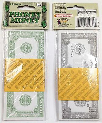 Phoney Money Fake Paper Bills 100s $ £ Monopoly Rapper Bank Robber Prop Play