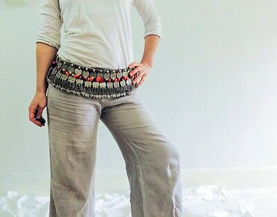 Vintage Kuchi Tribal Belt. Beaded, Coined and Pompoms!