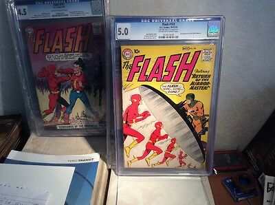 The Flash 109 CGC 5.0 2nd App Of The Mirror Master