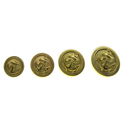 Gold Tone Anchor Buttons Plastic Cabochon Buttons 13mm 15mm 18mm 20mm Choose