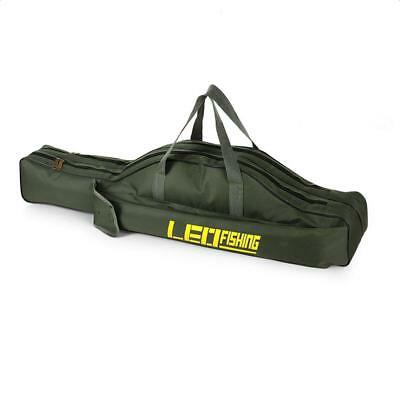 Waterproof Oxford Fishing Rod Zipped Bag Holder Travel Organizer Pouch Case