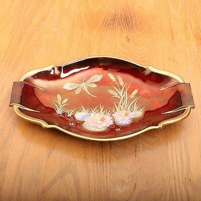 Carlton Ware Rouge Royale Dish Dragon Fly Pattern Vintage