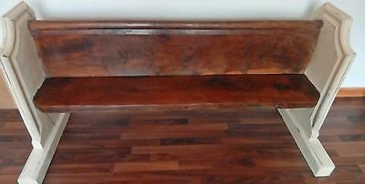 Early Victorian Church Pew English Oak