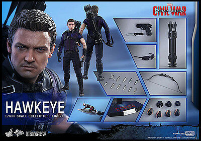 HOT TOYS - HAWKEYE / figurine Movie Masterpiece 1/6, 30 cm IN LOOSE