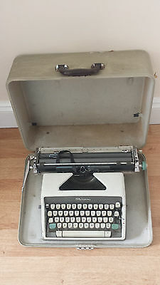 Vintage Olympia Typewriter With Case