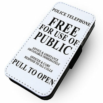 Police Telephone Notice - Printed Faux Leather Flip Phone Case #2