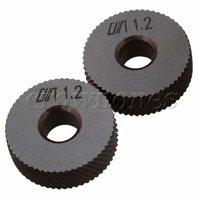 26mm Dia 1.2mm Pitch Diagonal Coarse Knurl Wheel Knurling Roller Pack of 2