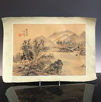 An Antique Chinese Watercolor Painting Signed With Seal
