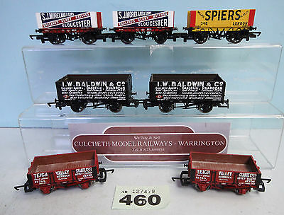 Hornby/bachmann 'oo' Gauge Lot Of 7X Assorted Goods Wagons Unboxed #460