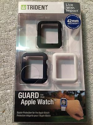 Trident Guard Apple Watch Band 3 Pack For Apple 42Mm Watch - Black/dark Blue/wht