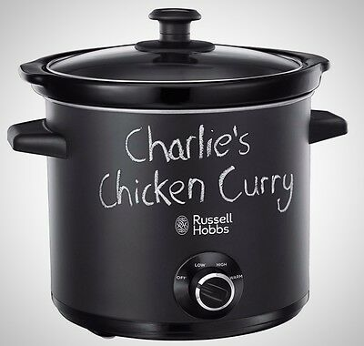 Russell Hobbs Chalkboard Slow Cooker 24810 Kitchen Food 3.5L Glass Lid Brand New
