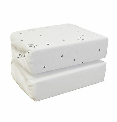 Cuddles Collection Stars on Crib Sheets (White Pack of 2)