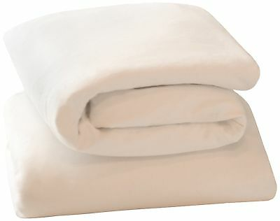 Clevamama Jersey Cotton Fitted Sheets (Crib/Cradle 44 x 90 cm White Pack of 2)
