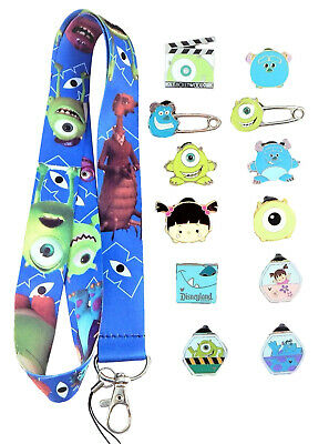 Monsters Inc. / University Starter Lanyard Set w/ 5 Disney Trading Pins ~ NEW