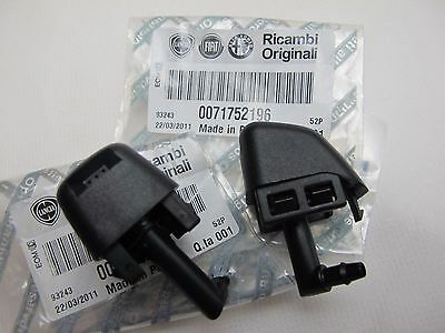 2x 71752196 NEW GENUINE FIAT 500 ABARTH PANDA 2012- FRONT WASHER JET / NOZZLE