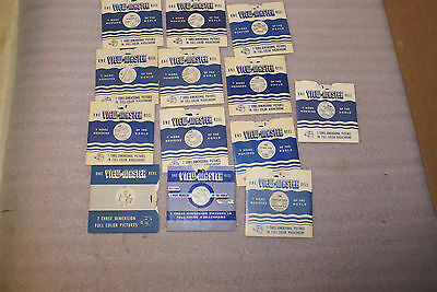Lot of 13 1940s 50s View Master Reels