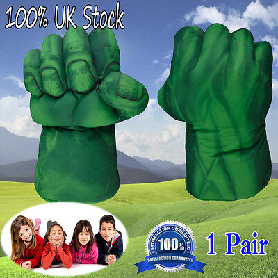 1Pair Hulk Smash Hands Plush Punching Boxing fists Gloves Cosplay Kids Game Prop