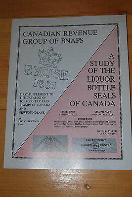 Weeda Literature: Liquor Bottle Seals of Canada Study, Lee Brandom 1980 handbook