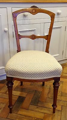 Mahogany with marquetry dining/bedroom chair