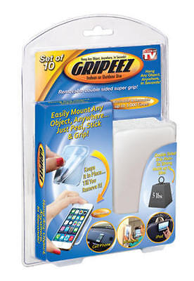 New Gripeez Set 10 Removable Double Sided Super Grip Indoor / Outdoor